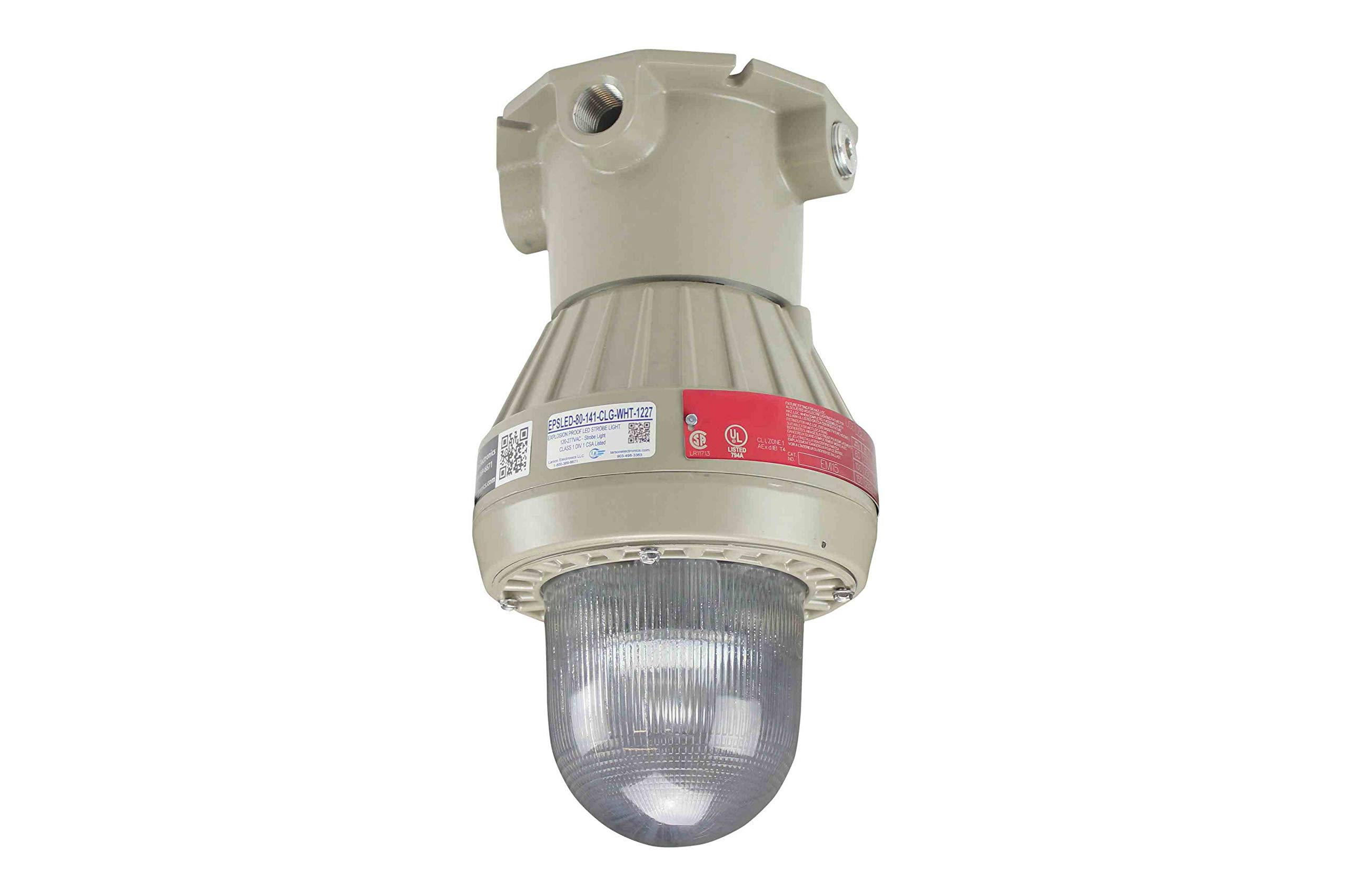 Explosion Proof LED Strobe Light - 120-277 Volts AC - Low Voltage - Class 1 Div. 1 - CSA Listed