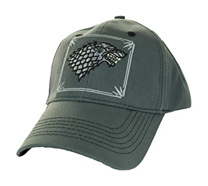 Game of Thrones House Stark Wolf Stitch Hat with Adjustable Velcro ... 0fc62567826