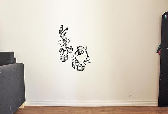 Amazon Com Resorvdecals Cartoon Vinyl Wall Decal Baby Tasmanian Devil Looney Tunes Vinyl Stickers Mural Mk4950 Home Kitchen
