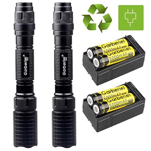 2Sets Garberiel Police 20000 lúmenes 5 modos T6 LED linterna ...