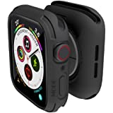elkson Compatible with Apple Watch Series 6 SE 5 4 Bumper case Cover 44mm iwatch Quattro Series Cases Fall Protection…