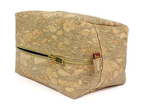 258b5d90bb SIMARU nécessaire da viaggio / borsa porta cosmetici in sughero / tessuto  di sughero ideale per