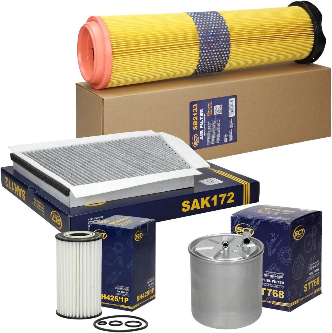 Inspektionspaket Wartungspaket Filterset 1 x /Ölfilter 1 x Luftfilter 1 x Innenraumfilter mit Aktivkohle 1 x Kraftstofffilter