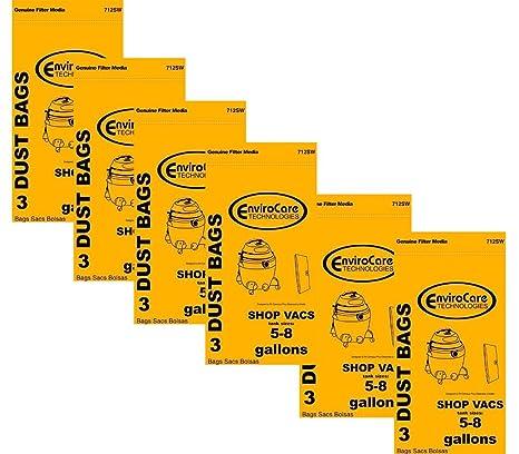 Amazon.com: shopvac tipo E 3 – 5 bolsas de galón mojado/seco ...
