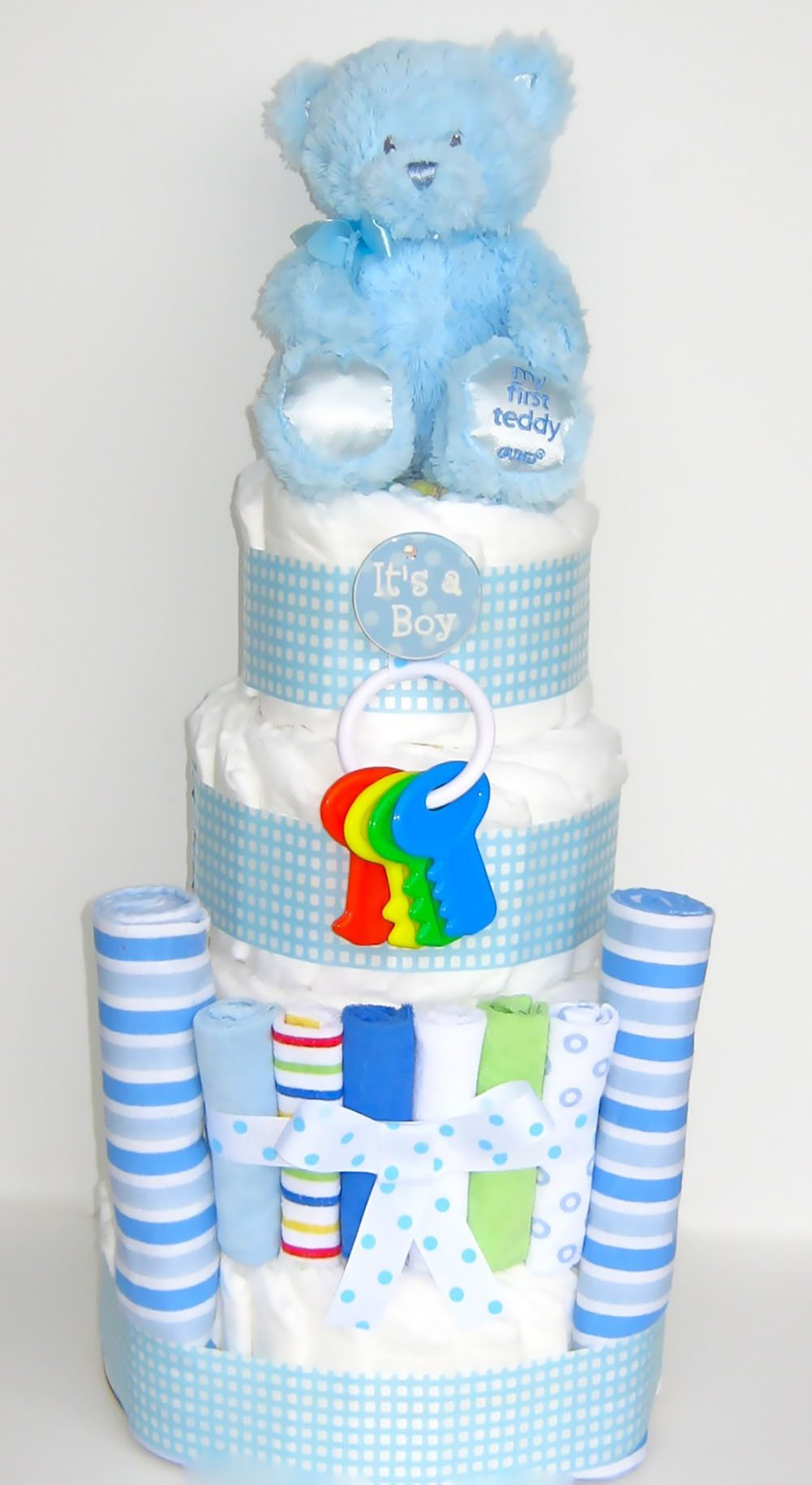 GIFTS2GONOW Its a Boy Baby Blues Diaper Cake