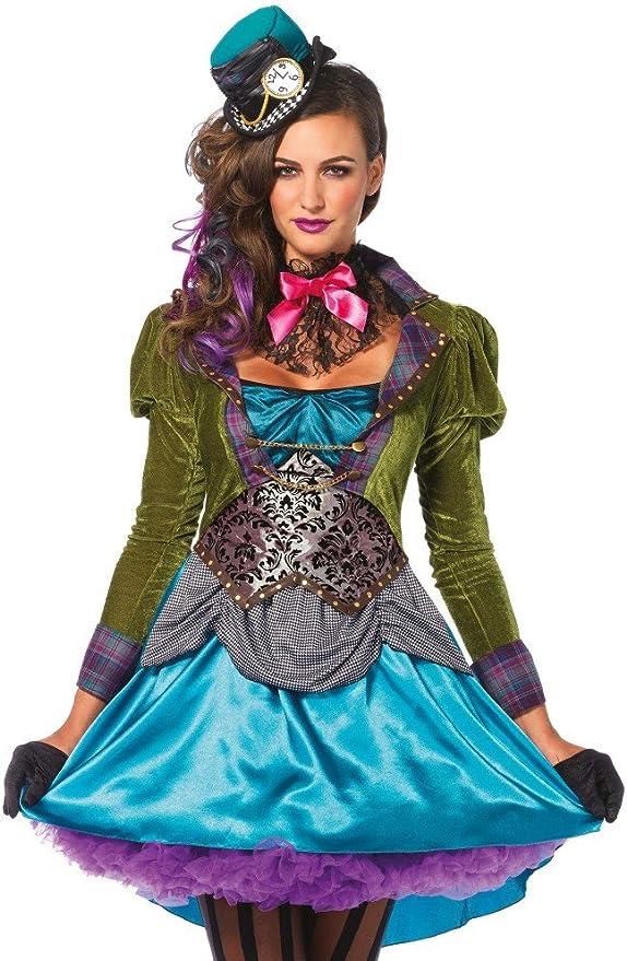 shoperama Leg Avenue – Disfraz para Mujer – Deluxe Mad Hatter ...