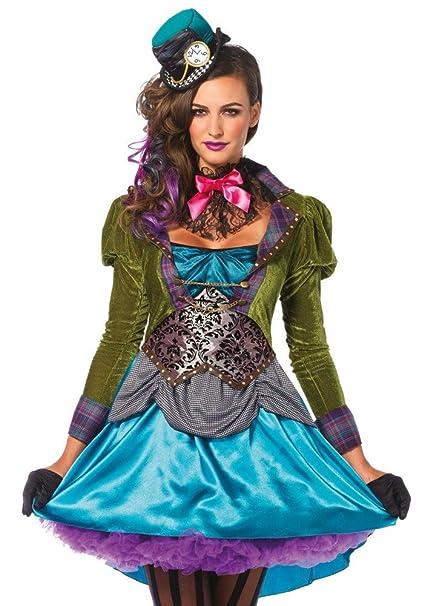 d75942ea445b7 Damen Kostüm Leg Avenue - Deluxe Mad Hatter - Alice im Wunderland  verrückter Hutmacher, Größe:S