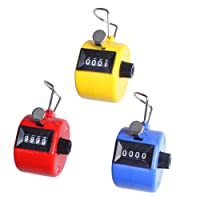 ewinever(R) Pack Of 3 Abs Hand Held Tally Counter 4 Digit Counter Buddha Numbers Clicker Golf