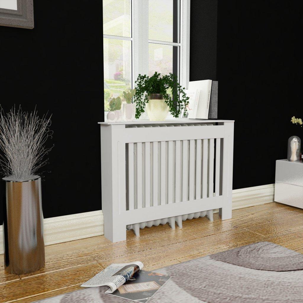 Festnight Cache-radiateur 112 x 19 x 81 cm Blanc