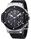 Megir Men s Black Dial Chronograph Casual Sport Quartz Watch