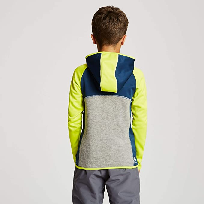 Dare 2b Unisex Kids Curate Core Stretch Full Zip Quick Drying Hooded Micro Fleece