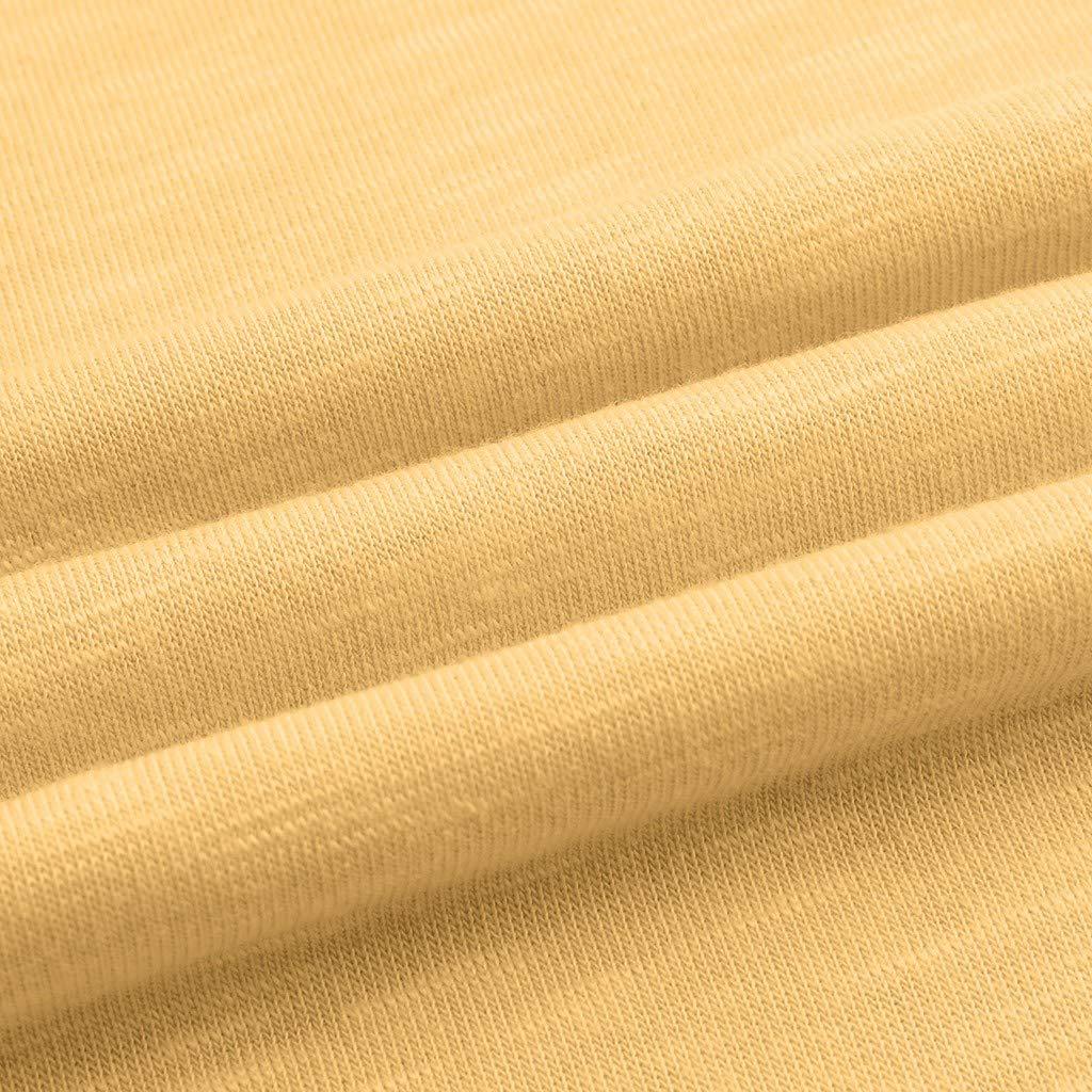 Fossen MuRope Camisas Mujer Manga Larga Color S/ólido Cuello en V con Bot/ón Invierno Blusas de Mujer Tallas Grandes Flojo Cl/ásico Casual Pullover para Playa,Vacaciones