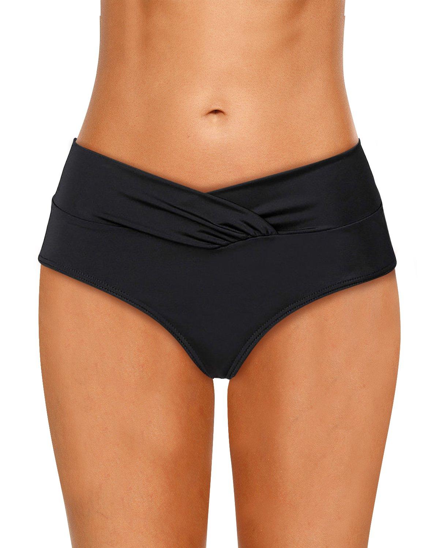 Dolamen Damen Badeshorts Bikinihose Shorts Trunks Badeanzug 2018 Surfen Bauchweg Badekleid mit Elastischer Bund Mini Bikini Slip Beachwear