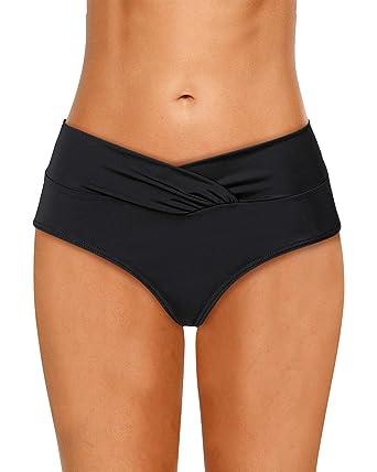 Dolamen Femme Shorts de Bain Jupe de maillot de bain, 2018 Maillot de Bain Femme Beachwear Swimwear Bikini Slip Robe de Plage Amincissante Slim Grande Taille (X-Large, Noir)