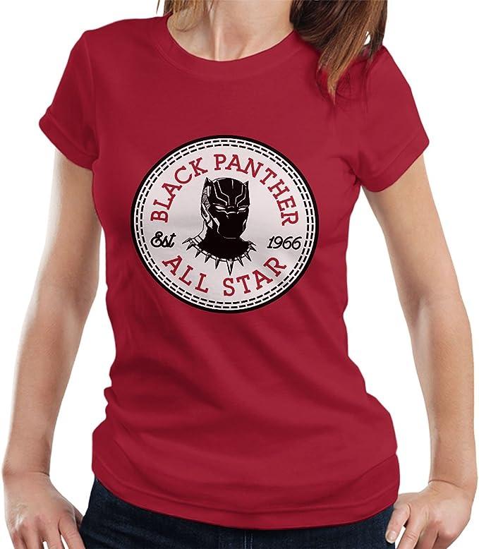 Black Panther All Star Converse Logo Women's T Shirt: Amazon