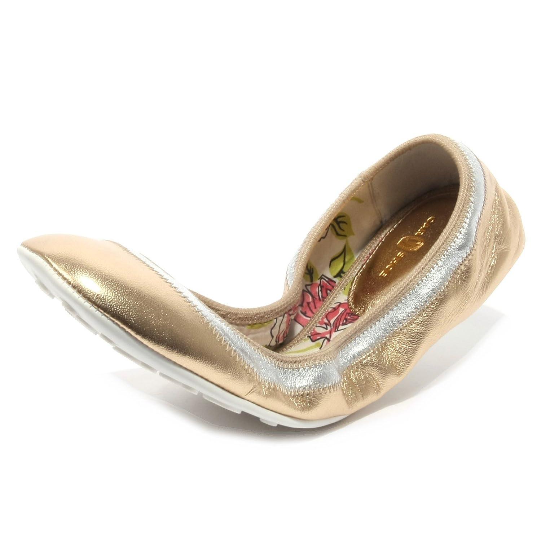 B2414 ballerina donna womanOro Argento CAR scarpe scarpa nappa nappa nappa oro   a03d29