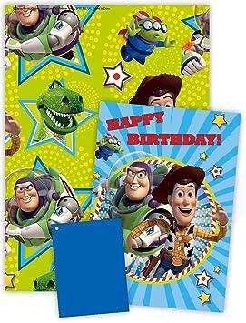 Disney Toy Story Papier Cadeau Avec Carte Danniversaire Et Une