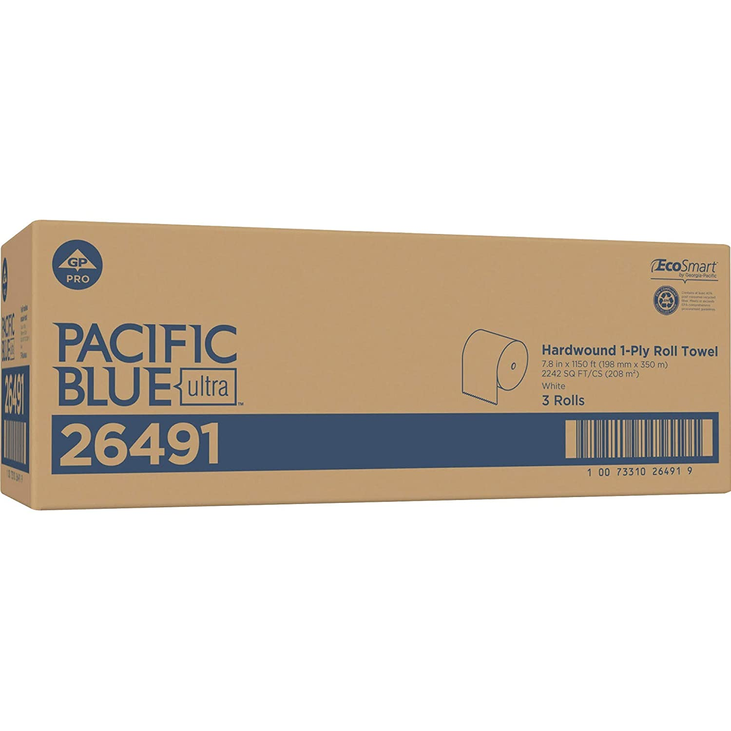 Georgia Pacific Professional 26491 Pacific Blue Ultra Paper Towels White 7 87 X 1150 Ft 3 Roll Ct Amazon Com Industrial Scientific