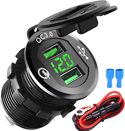 Usb Auto Steckdose Quick Charge 3 0 Dual Auto Ladegerät Elektronik
