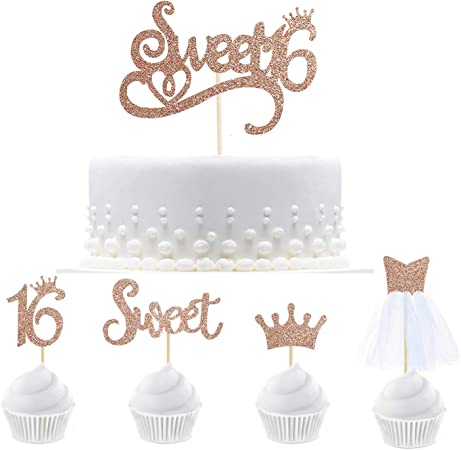 6 Pack of Cupcake Toppers Birthday Celebration Birthday Details Birthday Decoration Special Birthday Sweet 16 Birthday Cupcake Toppers