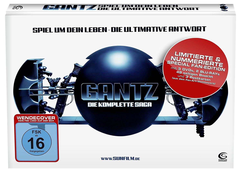 Gantz die komplette saga spiel um dein leben die ultimative antwort stylisches mediabook mit 3 dvds 2 bds hochglanzpostkarten und 48 seitigem booklet