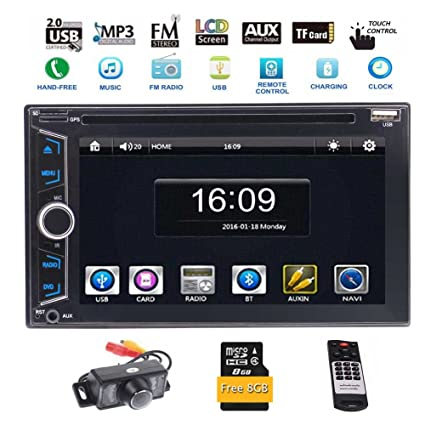 Auto Radio Double Din EinCar Autoradio Bluetooth 7 Inch Touch Screen Full HD 1080P IR Remote