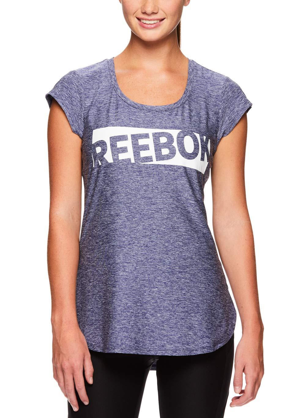 Reebok Women's Legend Performance Top Short Sleeve T-Shirt - Medieval Blue Heather, Extra Small by Reebok (Image #1)