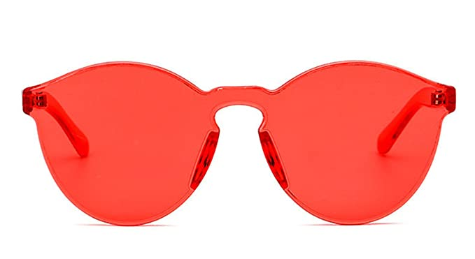 9d3f3e9ceb Amazon.com  COOCOl New One Piece Lens Sunglasses Women Transparent ...