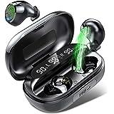 Auriculares Bluetooth, Auriculares Inalámbricos con Micrófono, 150 Horas de reproducción con Caja de Carga, IPX7…