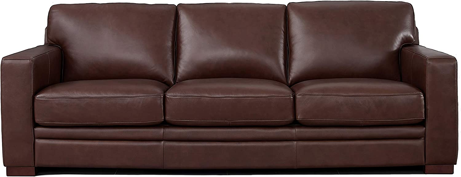Hydeline Dillon 100% Leather Sofa Couch, 96