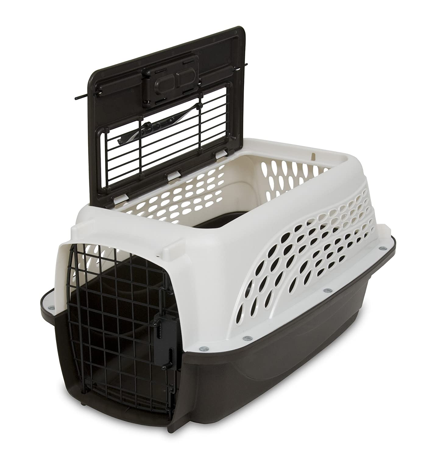 Petmate Two Door Top Load Kennel made of steel and plastic