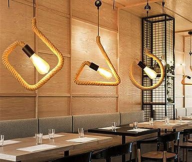Iron Art Hemp Rope Chandelier Creative Cafe Bar Restaurant ...