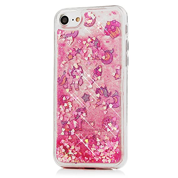 iphone 8 case glitter plastic