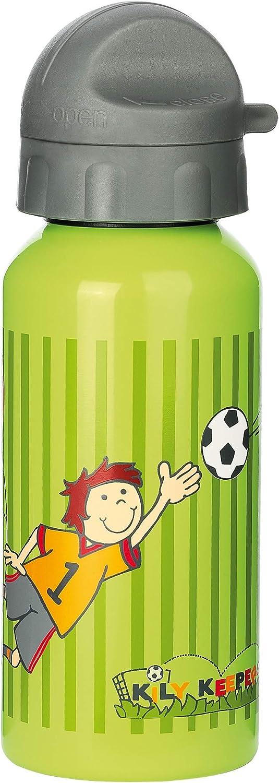 Sigikid 23795 - Cantimplora con diseño de Futbolista, Color Verde y Gris