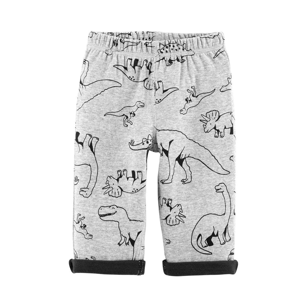 Carters Reversible Dinosaur Pull-On Pants 3M Grey