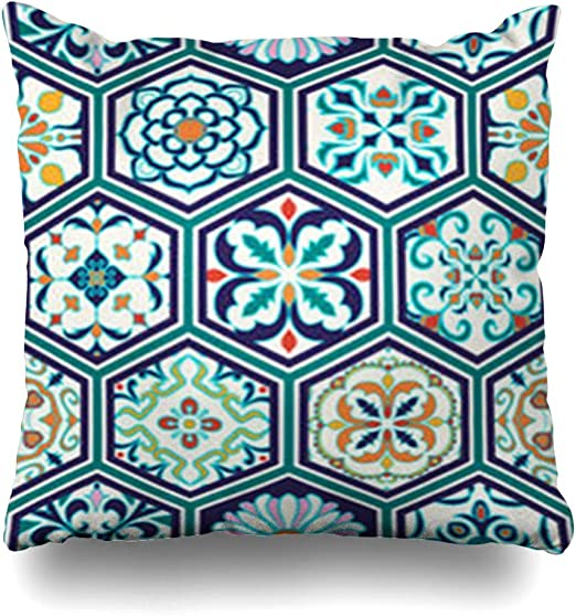 Fundas Decorativas para Almohada, Geometrical Patchwork Pattern in ...