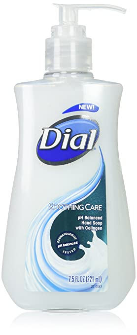 Dial Liquid Hand Soap, Soothing Care, 7.5 Fluid Ounces, 12 Count