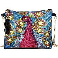 DIY 5D Diamond Painting Crossbody Bag, ZSYUNI Special Shaped Drill Cross Stitch Handbag Purse Tote Shoulder Bag Embroidery Kit Leather for Girl Women Adults Art Craft Decor