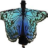 Lnefehsh Lenfesh Atractiva Eye-Catching Gigantes Chal de alas de mariposa Disfraz de desfile de fiesta de hadas elfo,197 x 125CM
