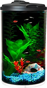 Koller Products 6-Gallon AquaView 360 Aquarium Kit with LED Lighting and Power Filter