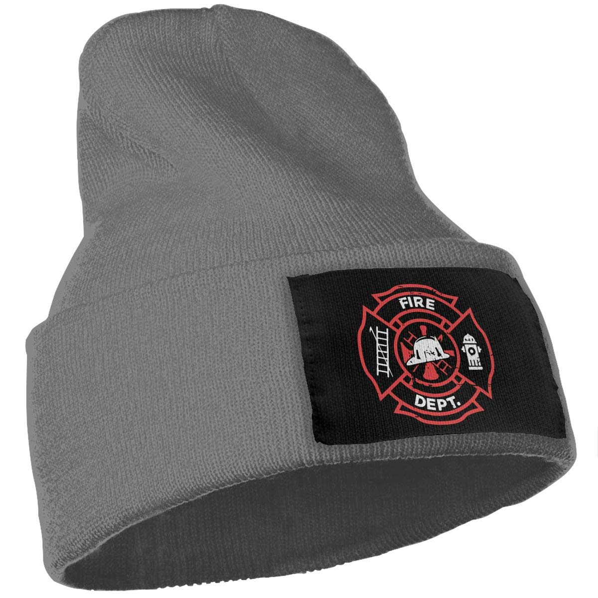 COLLJL-8 Unisex Distressed Firefighter Outdoor Warm Knit Beanies Hat Soft Winter Knit Caps