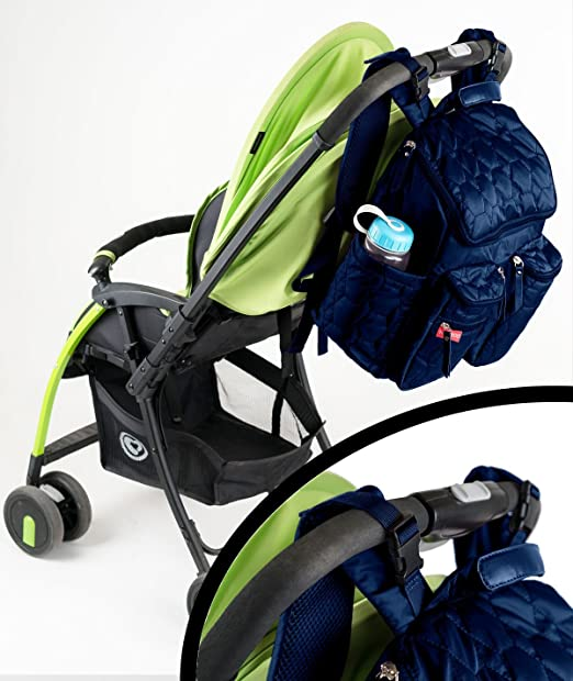 Wallaroo Diaper Bag Backpack with Stroller Straps