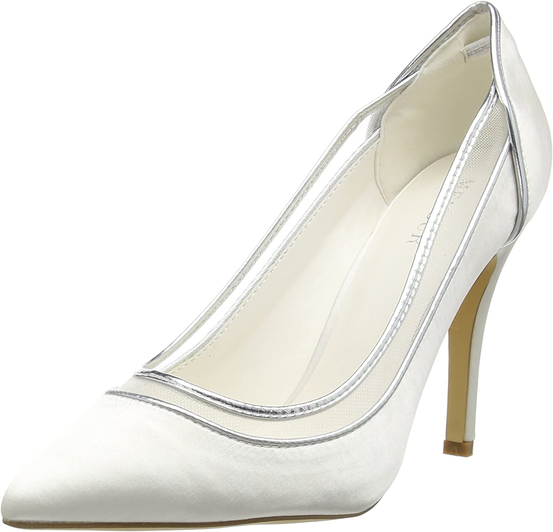 Menbur Wedding Berenice, Zapatos de tacón con Punta Cerrada para Mujer