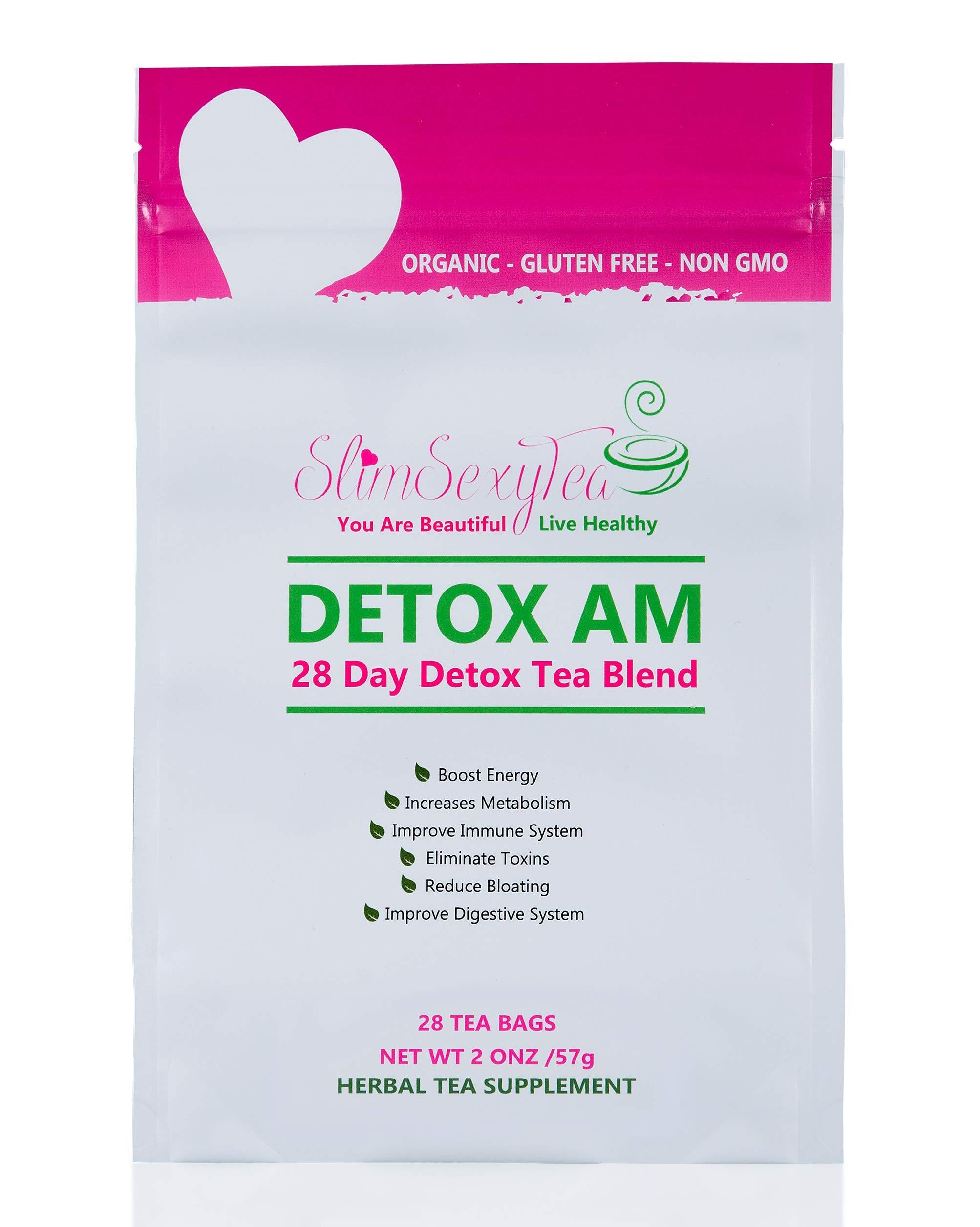 Detox Tea - 28 Days Cleanse - Weight Loss Tea - Slim Tea - Boost Metabolism Reduce Bloating- Herbal Tea-Diuretic Tea by slimsexytea (Image #1)