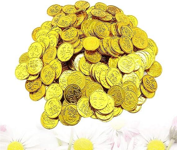 Toyvian Monedas de Oro de Piratas Juego de Juguetes de Monedas de ...
