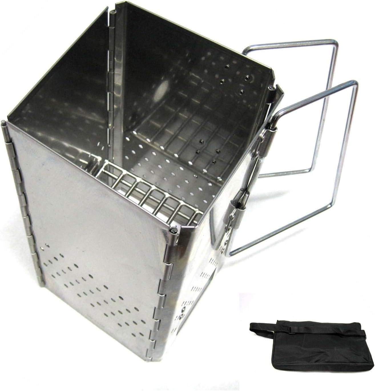 New Folding Charcoal Starter Stainless Steel Outdoor BBQ Grill Chimney Starter : Garden & Outdoor