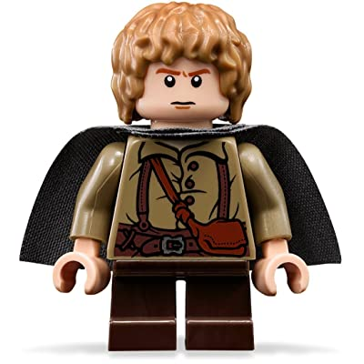 Lego The Lord Of The Rings: Samwise Gamgee Minifigure With Grey Cape: Toys & Games