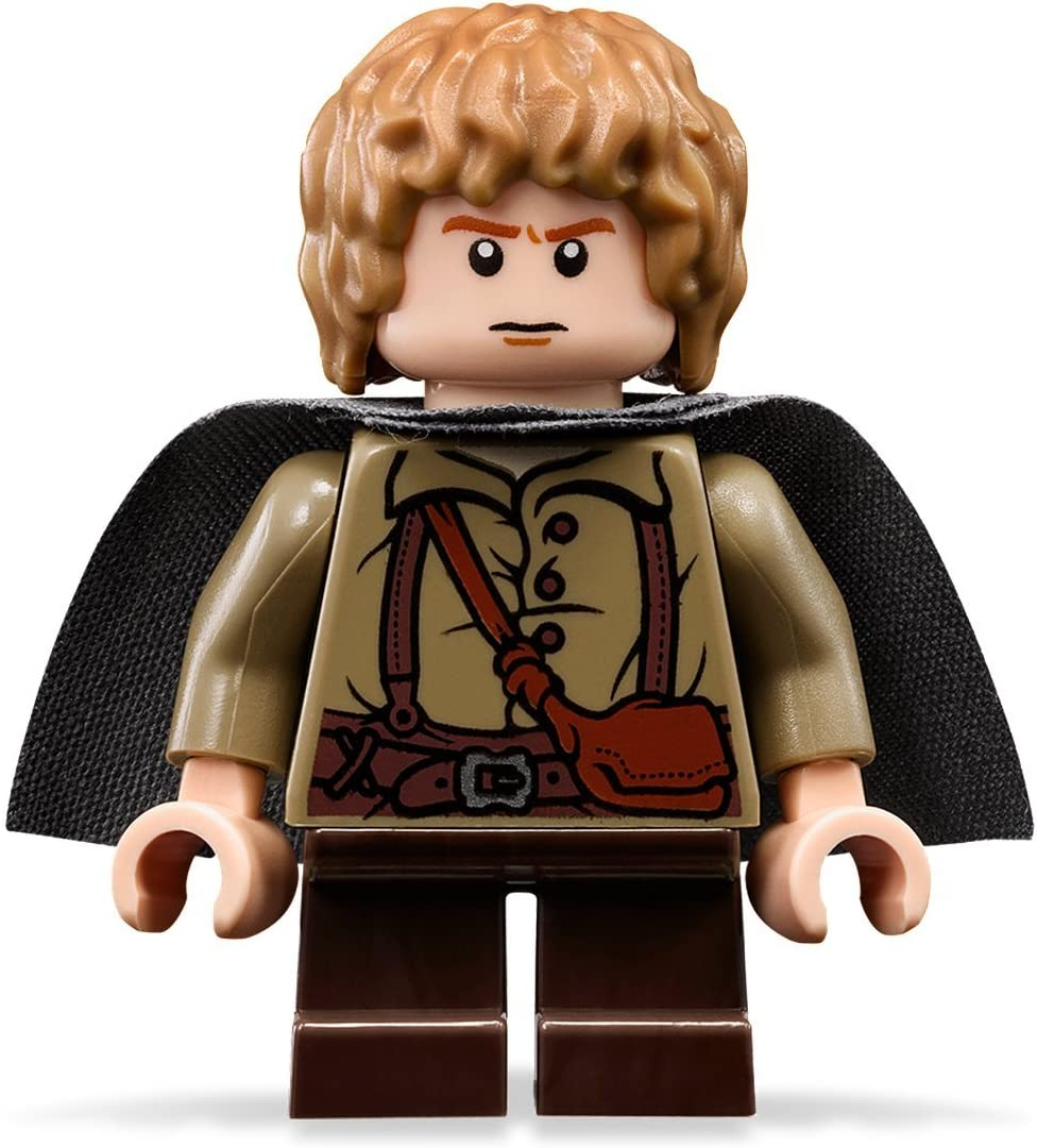 Amazon Com Lego The Lord Of The Rings Samwise Gamgee Minifigure With Grey Cape Toys Games