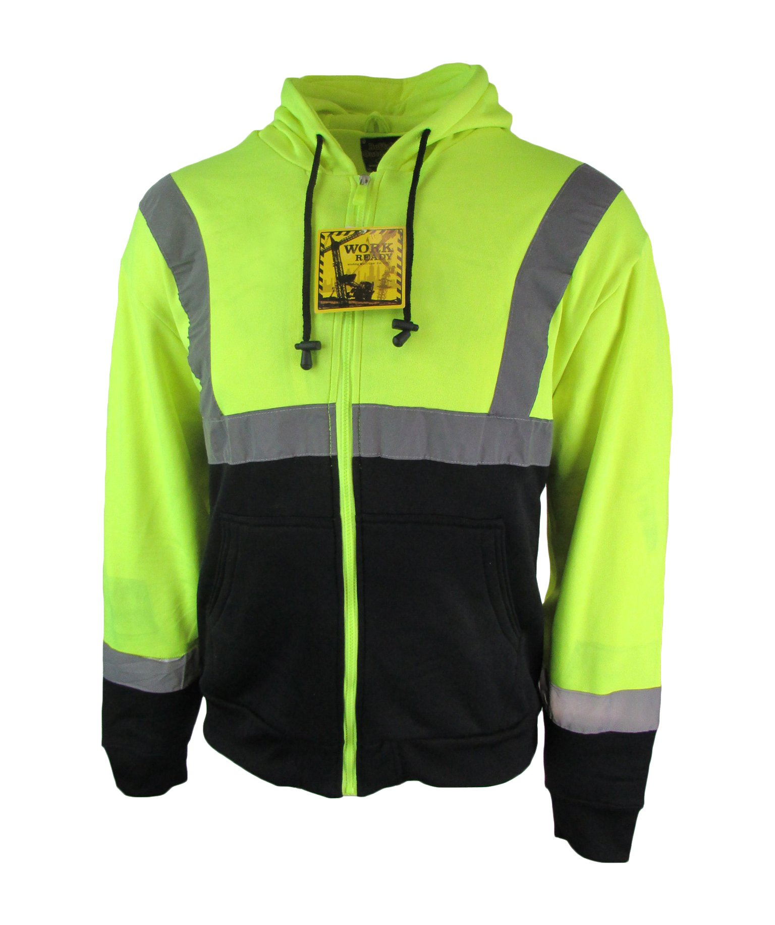 Buffalo Outdoors Men's Hi Vis Reflective Soft Hoodie Sweatshirt High Visibility, 2XL