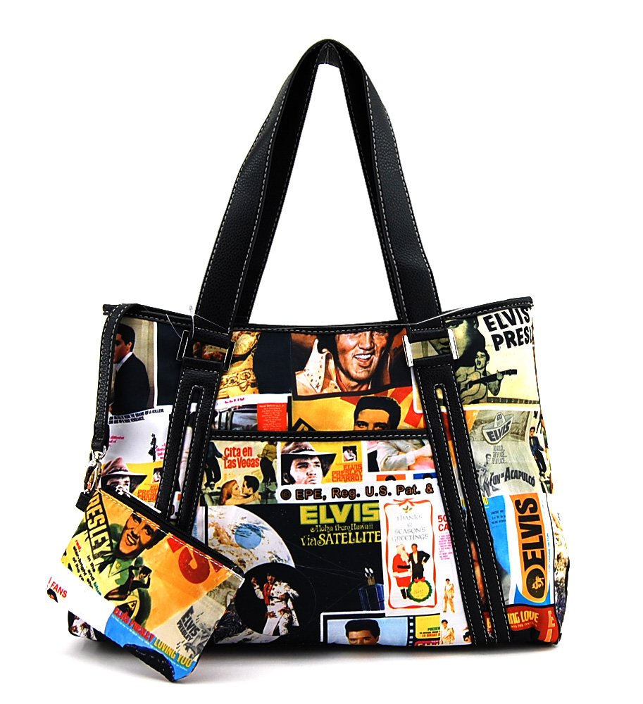 Elvis Presley Tote With Wallet Collage